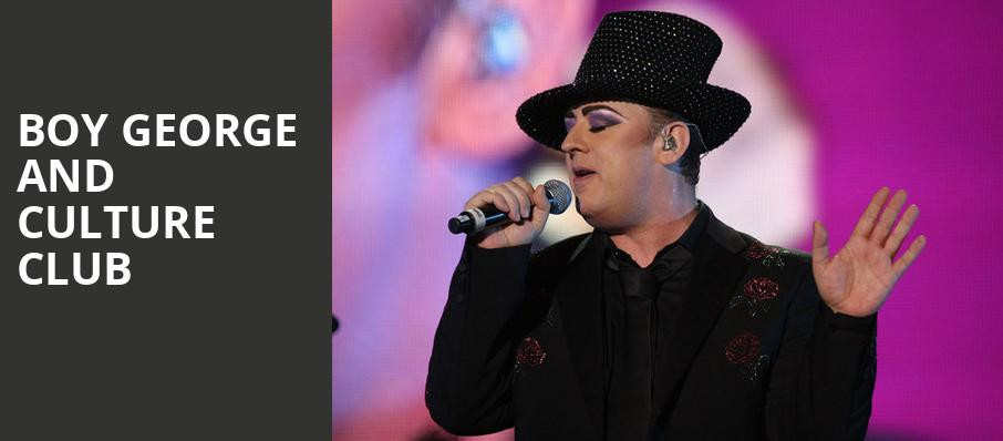 Boy George and Culture Club, Ryman Auditorium, Nashville